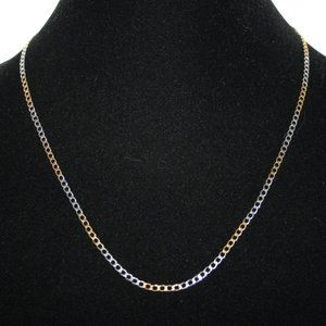 Beautiful silver and gold vintage chain necklace